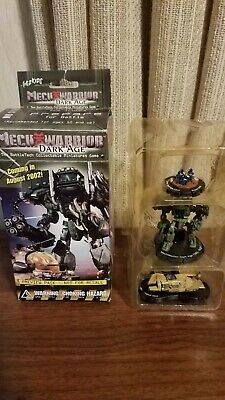 Wizkids MechWarrior Dark Age Booster Pack  Lot of 3 Factory Sealed from 2002