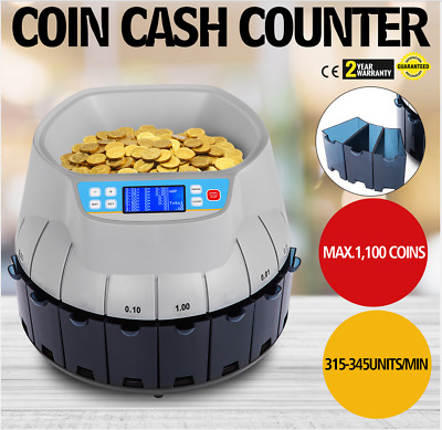 USD Coin Counter Sorter Automatic Money Counting Machine Digital Electronic