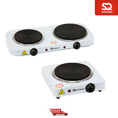 1000W & 2500W Electric Hob Single Double Ring Hot Plate Powerful Portable Cooker