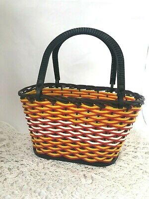 Vintage small shopping basket Wicker wire basket Children's shopping basket Shop