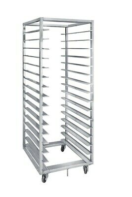 commercial bread rack trolley 16 tray with cover