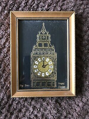 Rare Regal Clocks Framed Clock Picture With Certificate Of Authenticity