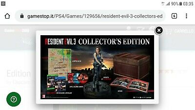Resident Evil 3 Remake Collector's Edition Ps4 Ita- Sold Out - Pre Ordine