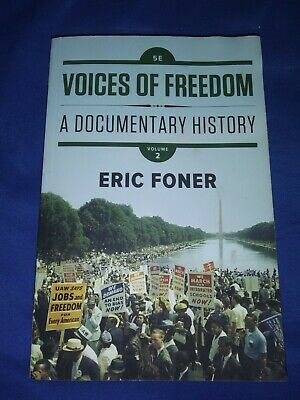 eric foner voices of freedom a documentary history