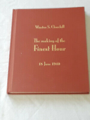 The Making of the Finest Hour Winston S Churchill WWII Book & CD LIKE NEW 2007