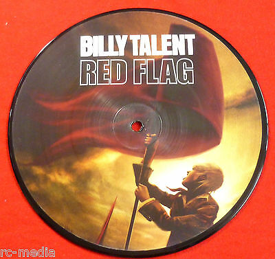 """BILLY TALENT -Red Flag- Rare UK  7"""" Picture Disc"""