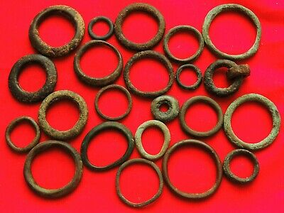"Lot 22 ancient Celtic proto-money bronze rings ""Coins"" Around 400 BC"