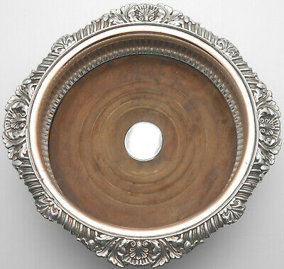 Creswick Old Sheffield Plate Wine / Champagne Bottle Coaster - Antique
