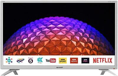 "Sharp LC-32HI5232KFW 32"" Smart HD Ready LED TV, White, HDMI 1.4 x 3 USB x 2, PVR"