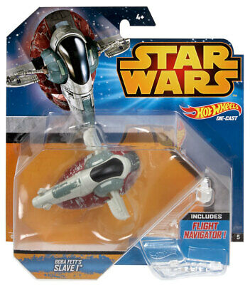 HOT WHEELS STAR WARS STARSHIP BOBA FETT SLAVE I VEHICLE #sdec19-380