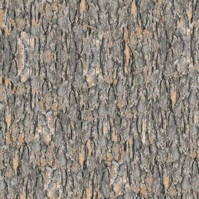 Nocturnal Wonders Tree Bark Grey Bark Cotton Fabric by the Yard