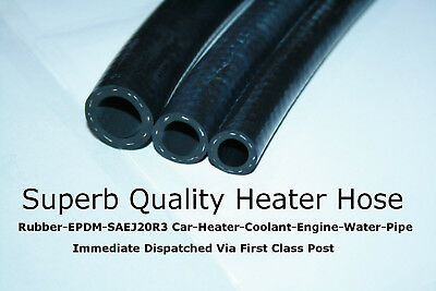 "8mm 5/16""  2 METRE Rubber Car Heater Pipe Radiator Coolant Water Flexible Hose"