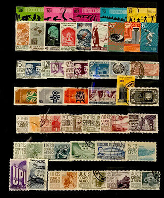 Mexico Stamps  #43 All  Different Lot 12820D