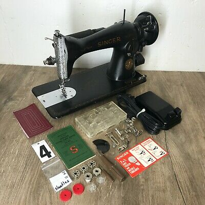 1942 Singer 15 91 Sewing Machine Heavy Duty Scroll Faced Serviced Works Perfect