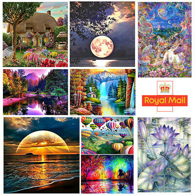 Diamond 5D Painting Kits Cross-Stitching Embroidery Landscape Arts Crafts Tools
