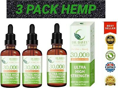 Hemp Oil Extract For Pain Relief, Stress , Anxiety, Sleep - 3 PACK 30,000 mg