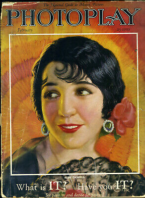 PHOTOPLAY • FEB 1926 • BEBE DANIELS cover Livingston Geer • inside EMIL JENNINGS