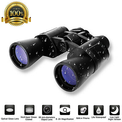 180x100 Zoom Day Night Powerful Binoculars Optics Hunting Camping Telescope+Case