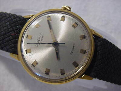 Vintage GOLD FD large antique Art Deco 29 JEWELS SEKONDA mens watch