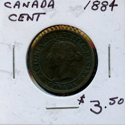 1884 Canada Large Cent Canadian Coin FP760