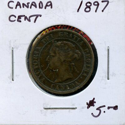 1897 Canada Large Cent Canadian Coin FP767
