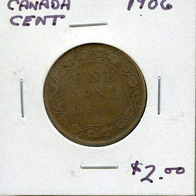 1906 Canada Large Cent Canadian Coin FP773