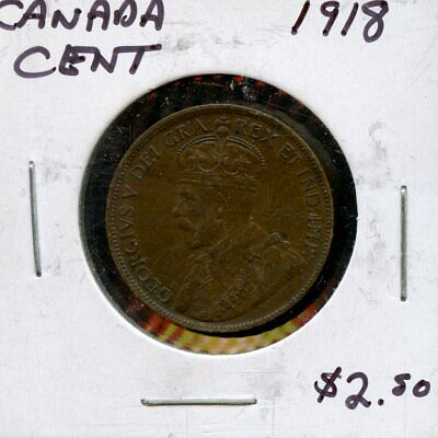 1918 Canada Large Cent Canadian Coin FP778