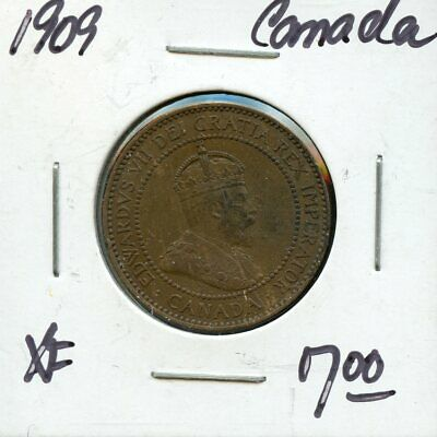 1909 Canada Large Cent Canadian Coin FP779