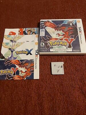 Pokemon Y Nintendo 3DS, 2013 cib cover is torn off
