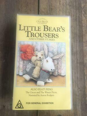Little Bear 'S Trousers & Other Stories Video Vhs Pal~ A Rare Find