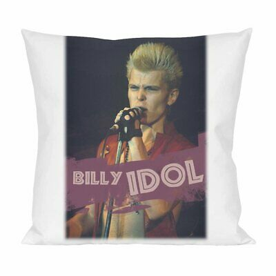 Billy Idol themed Throw Pillow Cover Satin Cushion Cover.