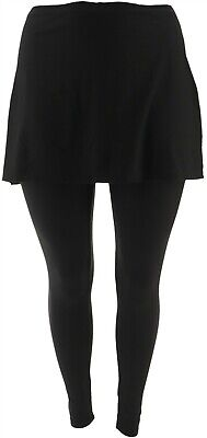 Legacy Brushed Jersey Skirted Legging Black XS NEW A342925