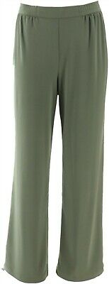 Linea Louis Dell'Olio Polished Moss Pull-Ons Crepe Pants Sage XL NEW A273877