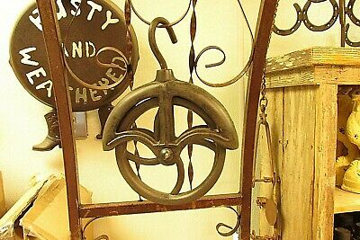 3    Farm  Style   Water   Well  &  Barn   Cast Iron   Rope Wheel Pulley
