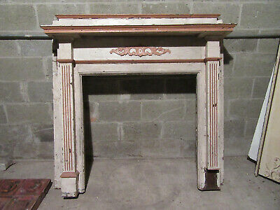 ~ ORNATE ANTIQUE OAK FIREPLACE MANTEL ~ 54 x 54 ~ ARCHITECTURAL SALVAGE