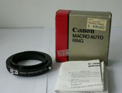 Canon Macro Auto Ring Lens. Mint Boxed Instructions