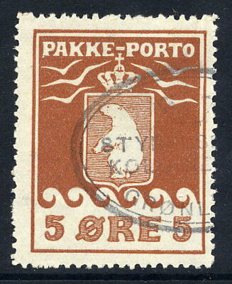 GREENLAND 1915 Parcel Post 5 Øre perforated 11¾, used.