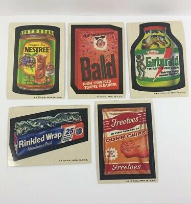 Vintage Topps Wacky Packages Cards Lot Of 5 Stickers Funny Trading Cards 1970's