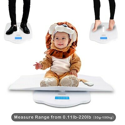 Baby Scale Toddler Digital Scale High Accuracy LCD Display Measures Max 220 lbs