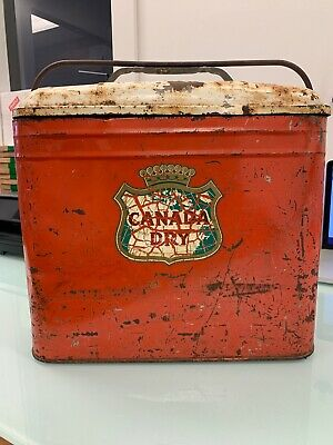 Vintage Canada Dry Branded Cooler Patina Ice Box
