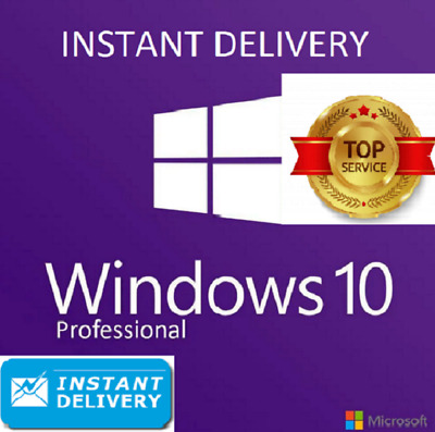 Microsoft Windows 10 Pro Professional 32/64bit Genuine License Key Instant 2s