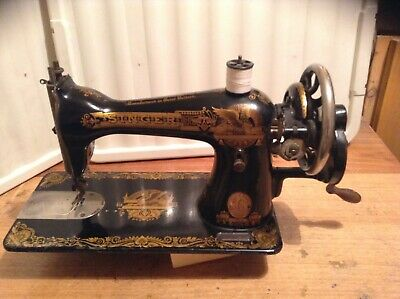 Vintage Singer 15K Sewing Machine in Egyptian Memphis style.