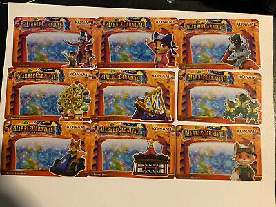 ROUND 1 ARCADE RARE CARD PLUS 8 CARDS From Marble Carnival Coin Pusher Game.