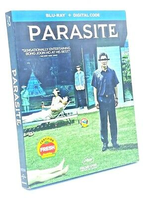 Parasite [2020] Blu-ray+Digital Code with Slipcover  4 Oscar Wins - Best Picture