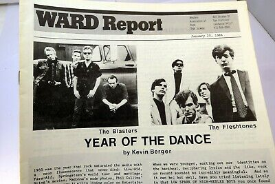 Ward Report January 1986 Best Radio New on  Rock Charts Year of the Dance