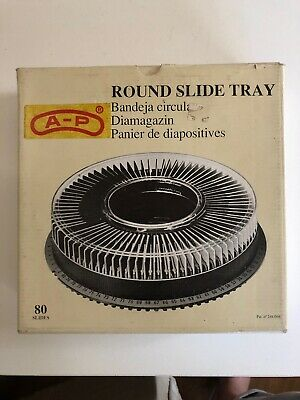 AP Round Carousel Slide Tray Holds 80 Slides for Photography & Projector Vintage
