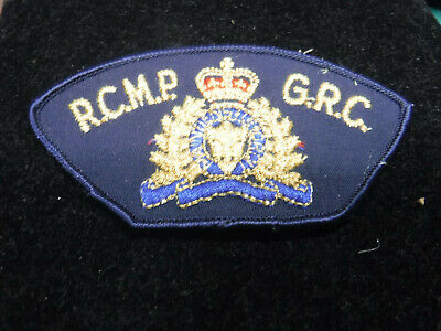 RCMP GRC Royal Canadian Mounted Police Uniform Black and Gold Patch NEW Obsolete