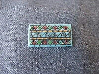 Antique Czech Max Neiger Bros egyptian revival turquoise glass cab applique  #1