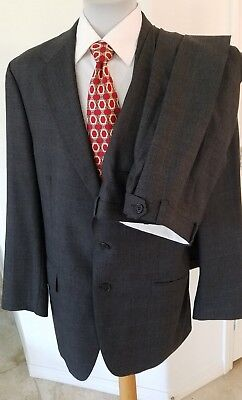 "Polo University Club by Ralph Lauren Wool Suit 44T Pants 36 X 33 1/2 2"" hem"
