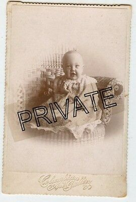 Cabinet Photo - Cute Baby W/Big Smile - HESS Family (Howard)